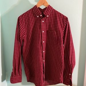 Dockers Men's Red Button Down Shirt. Size S